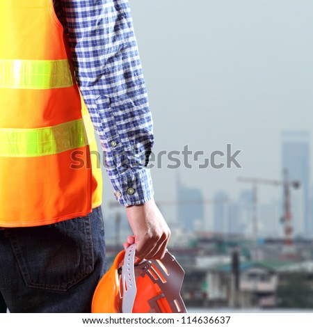 Cropped view of Construction worker