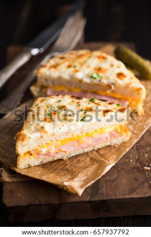 Croque Monsieur Photo stock ©
