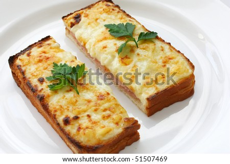 Croque Monsieur,Ham And Cheese Sandwich Stock Photo 51507469 ...