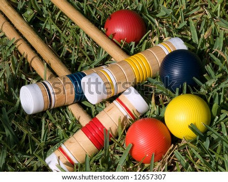 Croquet, Anyone? - stock photo