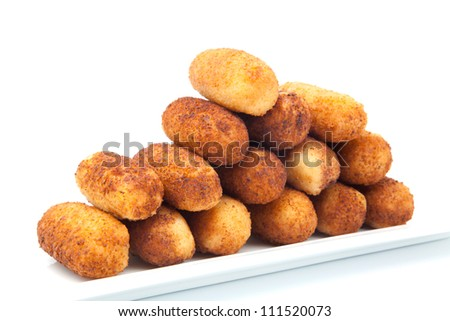 Croquettes breaded fried ready to eat