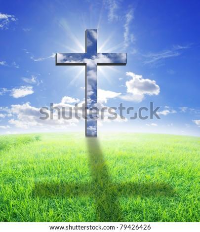 Cross and sunlight