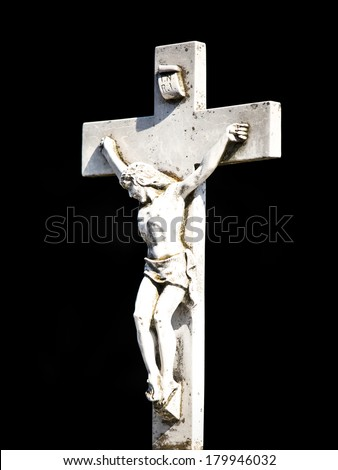 Cross at a cemetery in Melbourne Australia