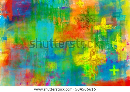 Cross background - abstract artistic colorful modern christian religious abstract background
