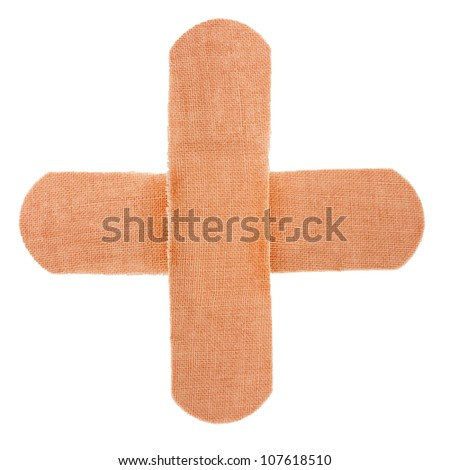 cross band-aid bandagesolated on white background - stock photo