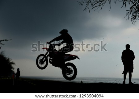 Cross-country motorcycle races and extrem racetrack #1293504094