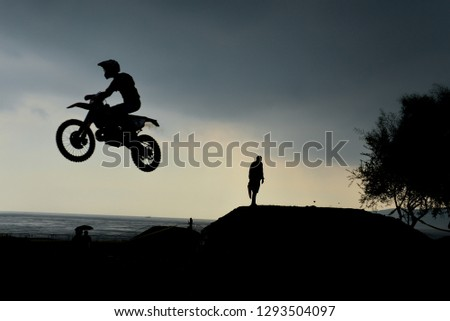 Cross-country motorcycle races and extrem racetrack #1293504097