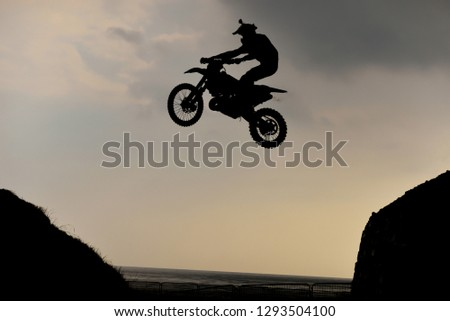 Cross-country motorcycle races and extrem racetrack #1293504100