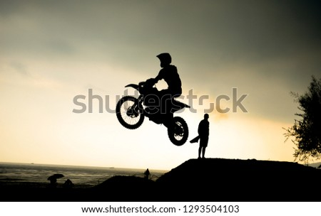 Cross-country motorcycle races and extrem racetrack #1293504103