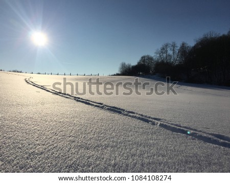 Cross country ski trail #1084108274