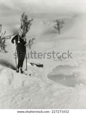 Cross country skiing Zdjęcia stock ©