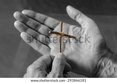 Cross, Cross Shape, Praying.