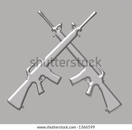Guns Crossed Logo Cross Guns