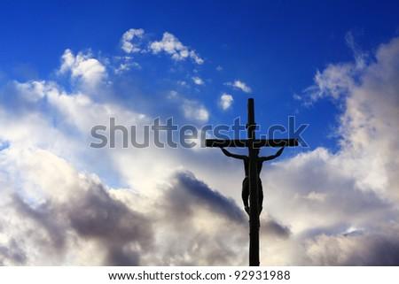 Cross in a blue sky