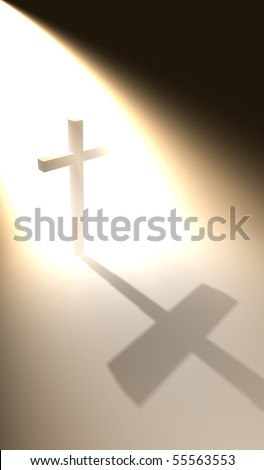 Cross in the bright light