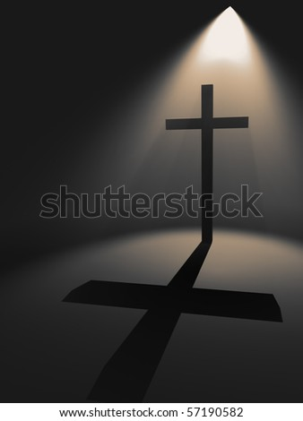 Cross in the light