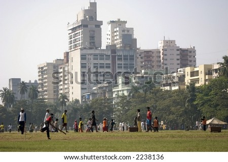 Cross Maidan in Bombay or Mumbai in India