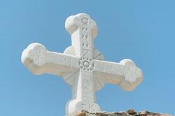 Cross near the Agios Nikolaos Church of Naxos, Greece