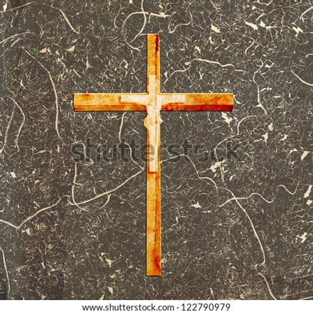cross on abstract grunge background