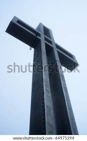 Cross on the blue sky