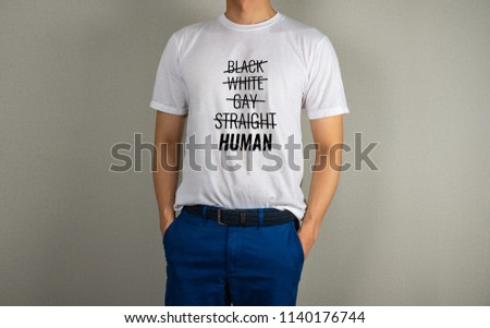 Cross over sexual orientations, not on Human text on t-shirt