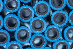 Cross section of group oxygen hose for industrial application as abstract industrial background