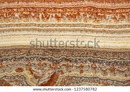 Cross Section of Marble Sedimentary Layers Decor #1237580782
