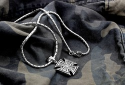 Cross the neck for men. Men's necklace