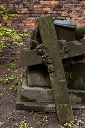 cross tombstones