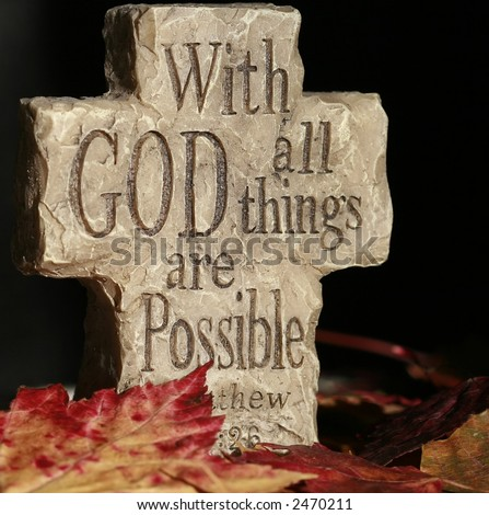 cross with saying of all things are possible with God