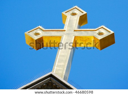 cross with spikes #46680598