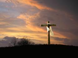 cross with sunrise