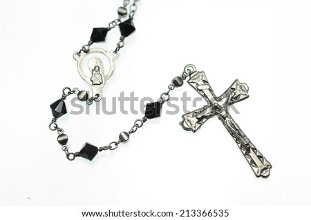 Cross with white background
