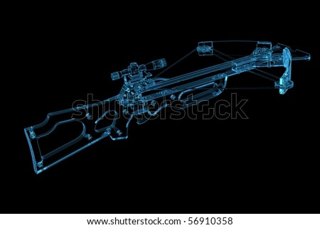 Crossbow (3D xray blue transparent)