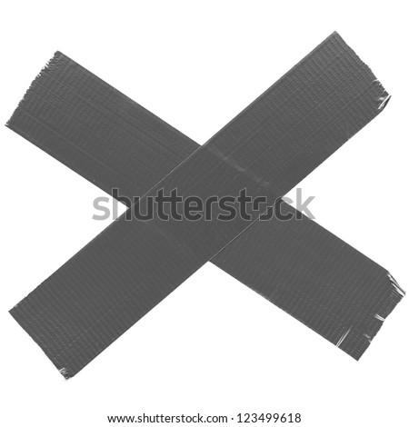 crossed duct tape