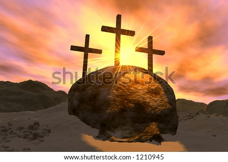 Crosses and Skull