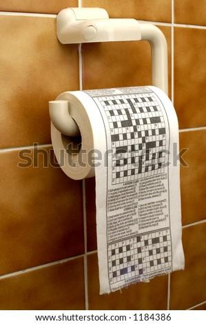 Crossword toilet paper