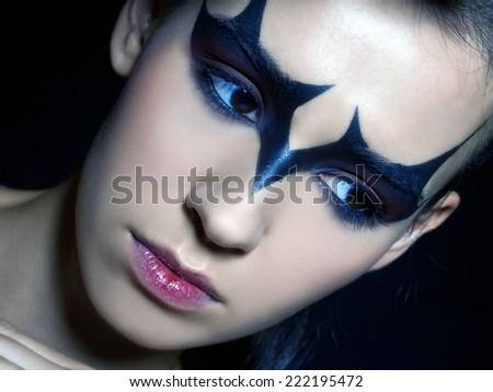 halloween face art halloween 222195472