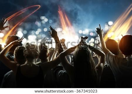 Shutterstock Crowd at a concert