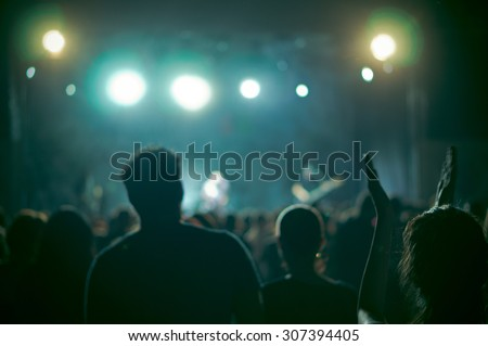 crowd at a concert in a vintage ...