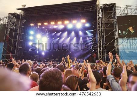 Shutterstock Crowd at a open air concert