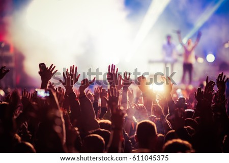 Shutterstock crowd at concert - summer music festival