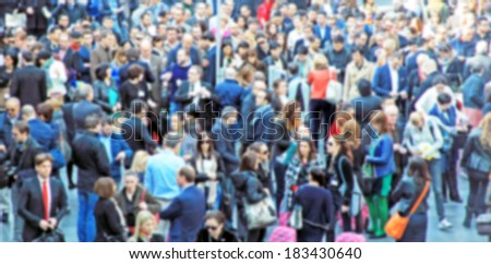 Crowd background, intentionally blurred post production #183430640