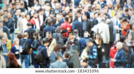 Crowd background, intentionally blurred post production #183431096