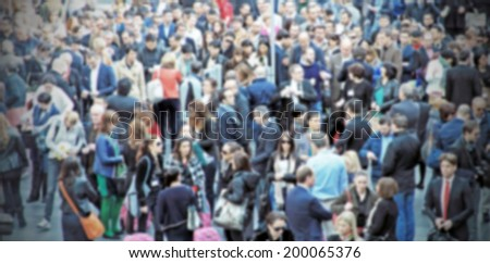 Crowd background, intentionally blurred post production #200065376