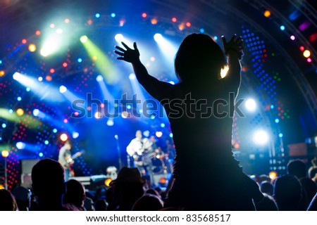Crowd of fans at an open-air live concert #83568517