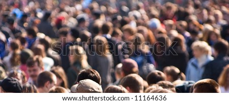 Crowd of people at the street