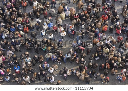 crowd of people. stock photo : Crowd of people