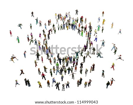 crowd of people stands around a center