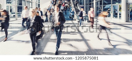 Crowd of people walking street ストックフォト ©